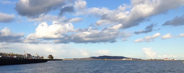 A recent sunny day along the Promenade. Looking towards Bull Island and Howth.