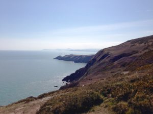 View of Wicklow Mountains from Howth.